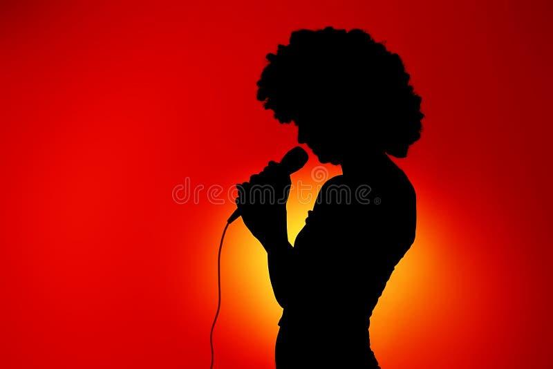 Wystrzału piosenkarz obraz stock