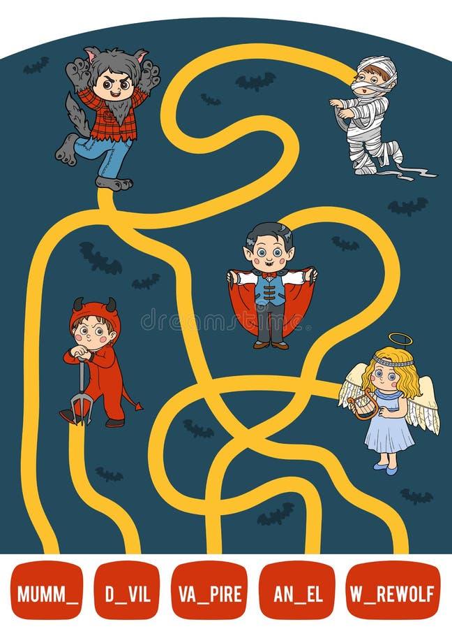 wystrzega się czerń może target949_0_ goin przerażającego gemowego dom cukierków dzieci labiryntów ile pająki ty Set Halloween ch royalty ilustracja