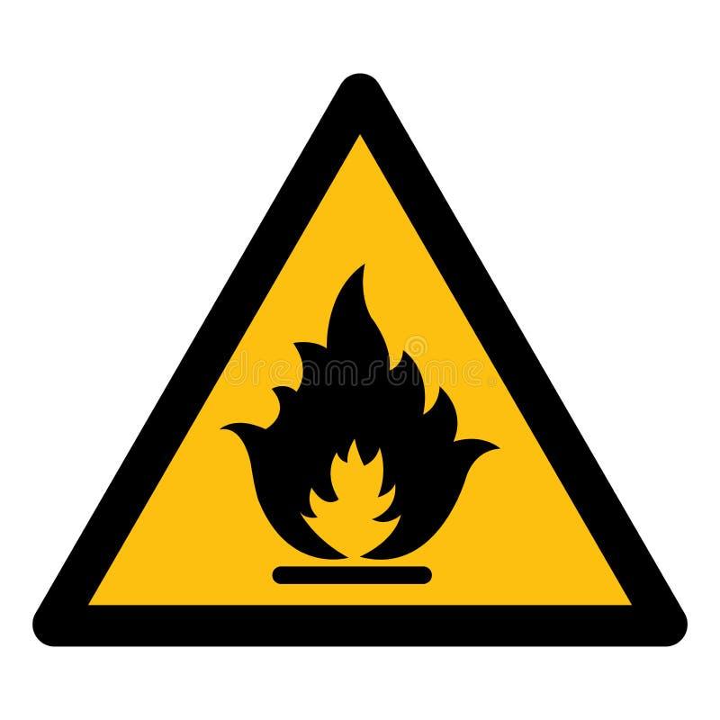 Wystrzega się Flammable gazu symbol Odizolowywa Na Białym tle, Wektorowa ilustracja EPS 10 ilustracji