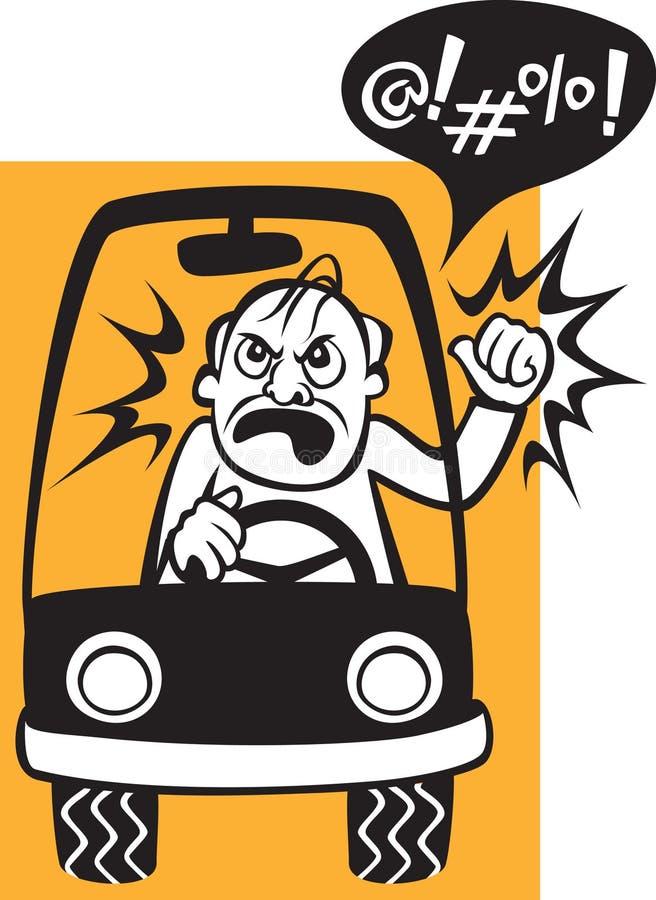 wystrzega się kierowców royalty ilustracja