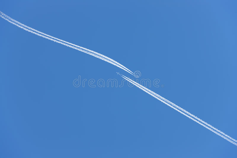 wystrzeganie samolotowy trzask fotografia stock