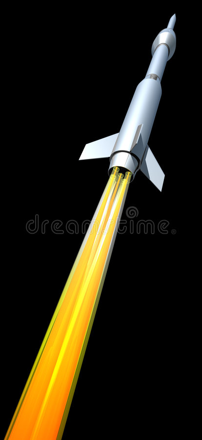 wystrzelić rakietę royalty ilustracja