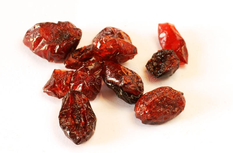 Wysuszeni cranberries obrazy royalty free