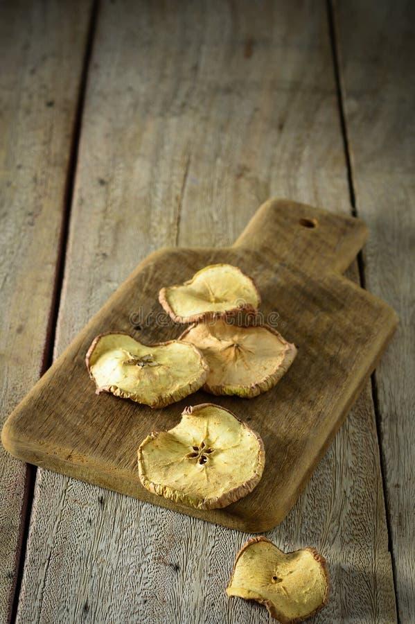 Wysuszeni jabłka zdjęcia stock