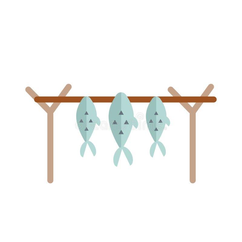 Wysuszona rybia wektorowa ilustracja ilustracji