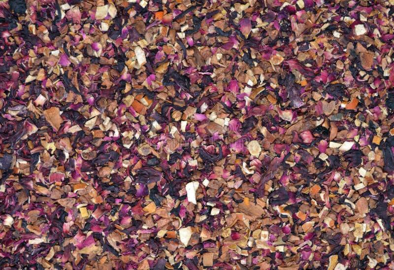 Wysuszona Tropikalnych owoc herbaty tekstura zdjęcia royalty free