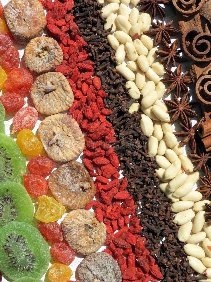 Wysuszone owoc, dokrętka i pikantność, zdjęcie stock
