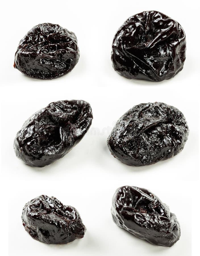 Wysuszone owoc odizolowywali białego tło zamkniętego w górę obraz royalty free