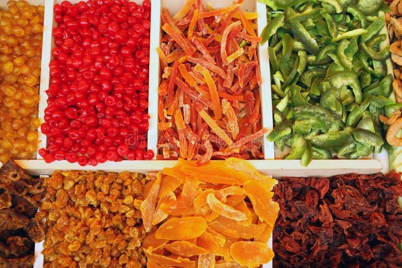 wysuszony - owocowy rynek obrazy stock