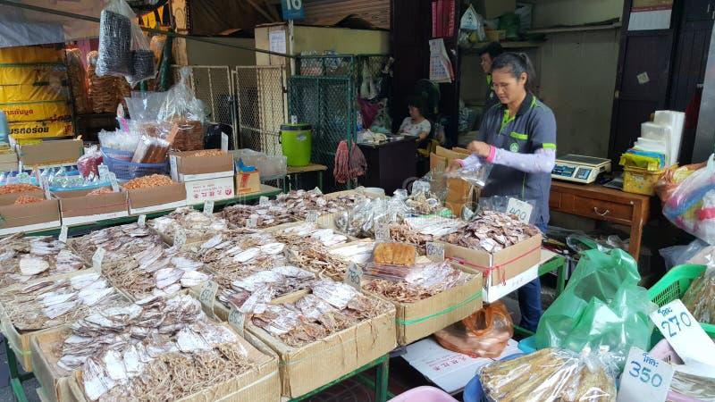 Wysuszony ryba kram, Chinatown, Bangkok, Tajlandia obraz royalty free
