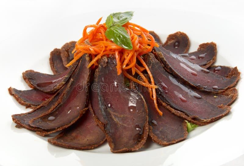 wysuszony wołowiny mięso zdjęcie stock