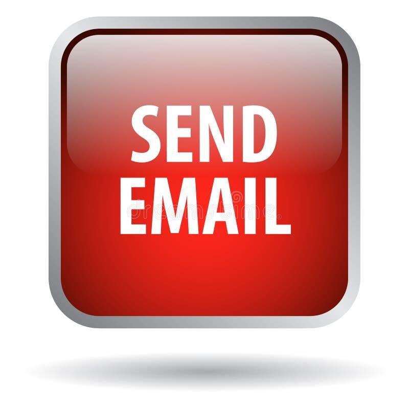 Wysyła email sieci guzika ilustracja wektor