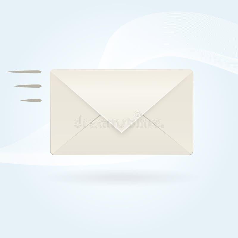 Wysyła emaila ilustracja wektor