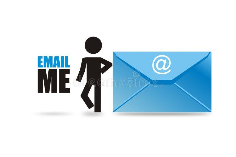 Wysyła emaila ja ilustracji