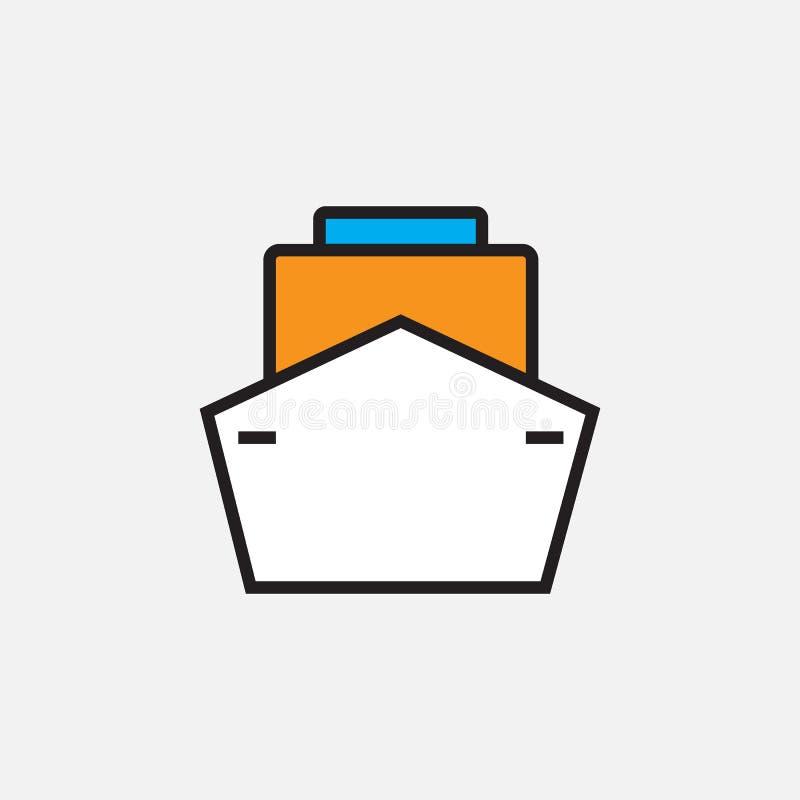 Wysyła ikonę, konturu loga wektorowa ilustracja, wypełniający koloru liniowy piktogram odizolowywający na bielu ilustracja wektor
