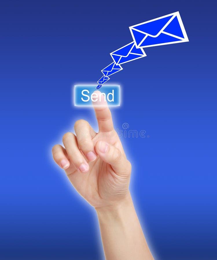 Wysyła wiadomość obraz stock