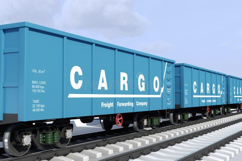 Wysyłka ładunek w furgonach. royalty ilustracja