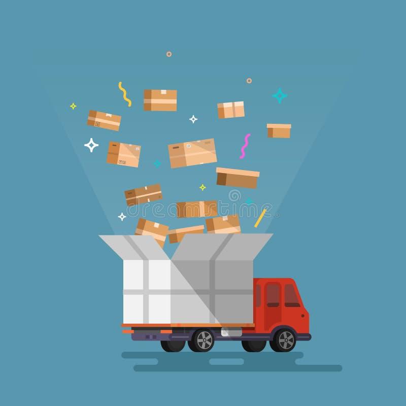Wysyłka ładunku dostawa ilustracji