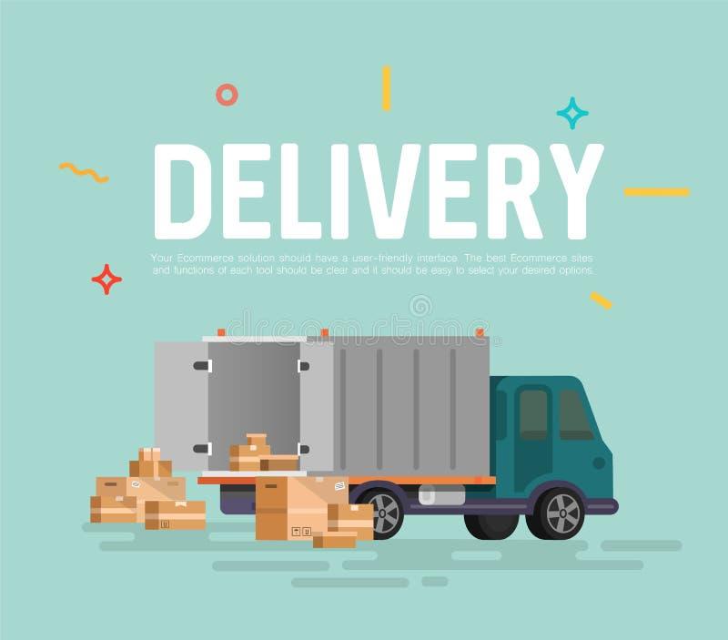 Wysyłka ładunku dostawa ilustracja wektor