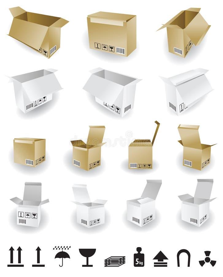 wysyłka pudełkowaty wektor ilustracja wektor