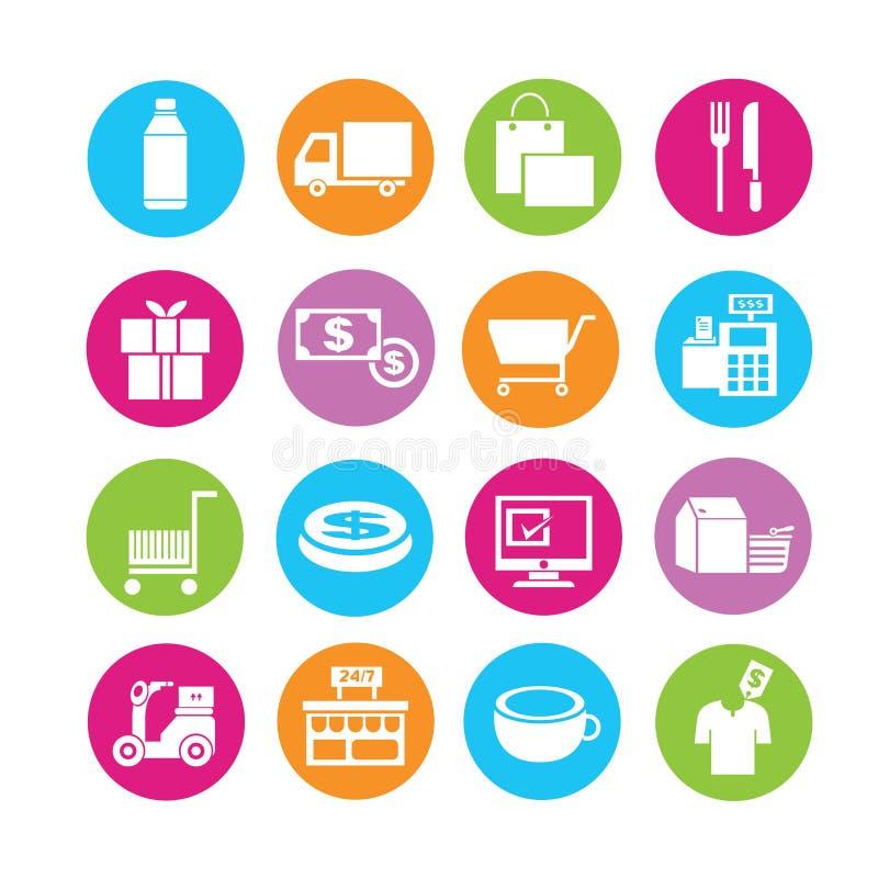 Wysyłki i customerservice ikony ilustracja wektor
