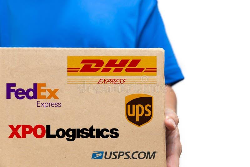 Wysyłki usługa i logistycznie firma w USA rywalizacji obraz stock