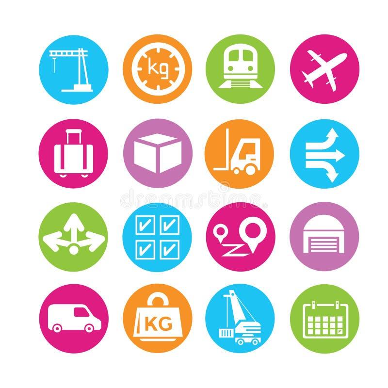 Wysyłki zarządzania ikony ilustracji
