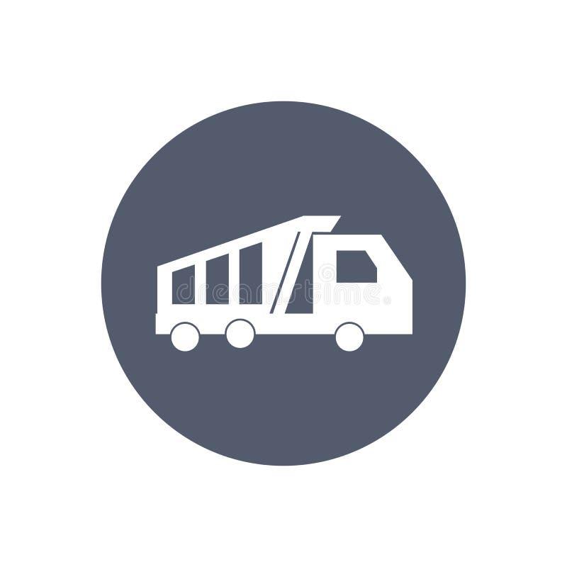 wysypiska ekskawatoru ciężarówka mórz royalty ilustracja