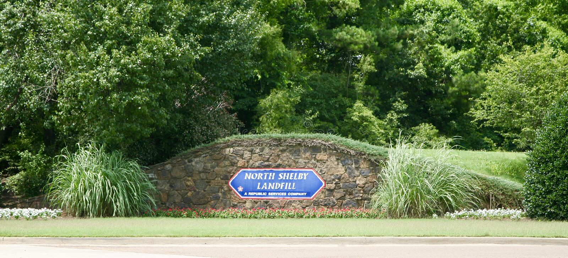 Wysypisko Północny Shelby okręg administracyjny zdjęcia stock