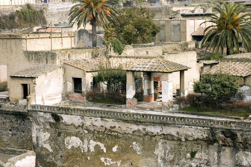 wyszczególnia ekskawacje Herculaneum zdjęcie stock