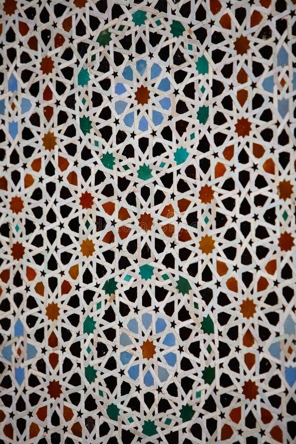 Wyszczególnia II dekoracyjny Hassan Meczetowa Stara ściana dekorowałam z był zdjęcia stock