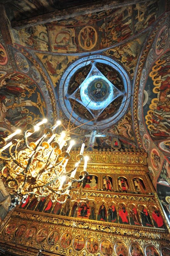 wyszczególnia moldovita wewnętrznego monaster zdjęcia royalty free