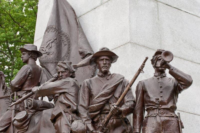 wyszczególnia pamiątkową Gettysburg statuę Virginia zdjęcia royalty free