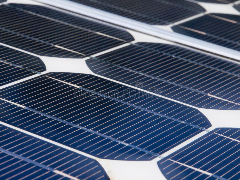 wyszczególnia panelu słonecznego zdjęcie royalty free