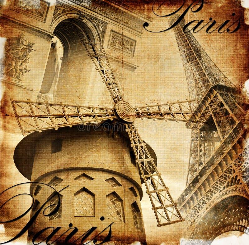 wyszczególnia parisian ilustracja wektor