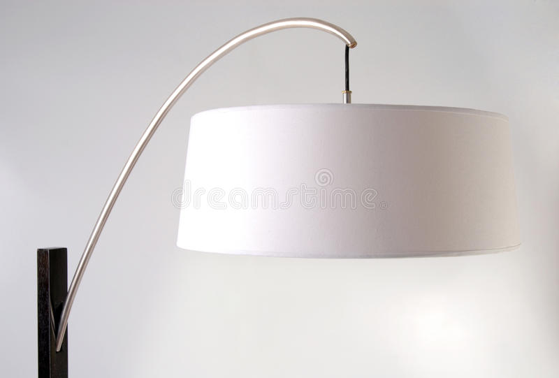wyszczególnia podłogowej lampy abażurka biel zdjęcia royalty free