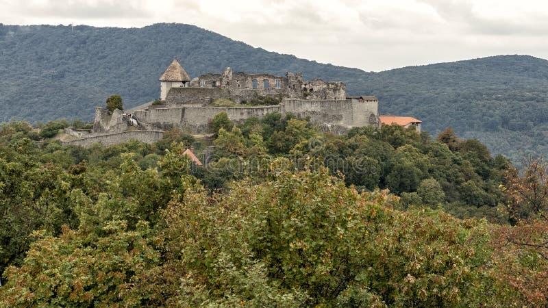 Wyszehradzki kasztel w Wyszehradzkim, miasteczko w zaraza okręgu administracyjnym, Węgry obraz stock