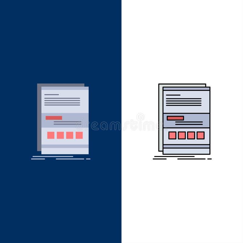 Wyszukiwarka, dynamiczna, internet, strona, wyczulony Płaski kolor ikony wektor ilustracja wektor