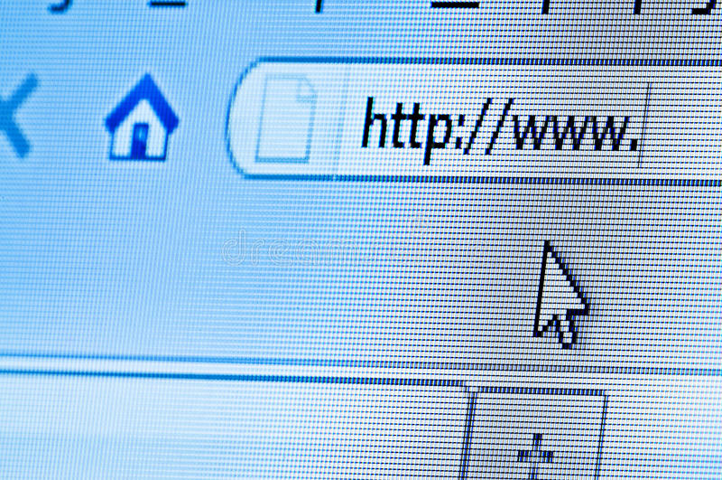 wyszukiwarka internety obraz stock
