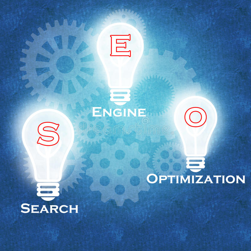 Wyszukiwarka Optymalizacja & biznesowy sukces royalty ilustracja
