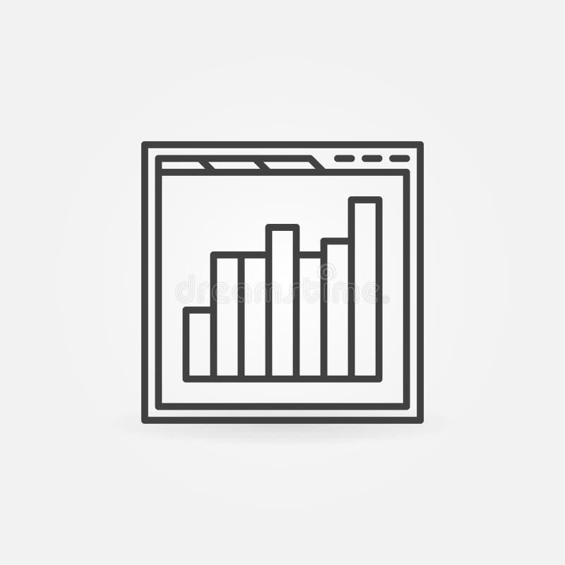 Wyszukiwarka z prętowej mapy linii ikoną Wektorowy sieci analityka znak ilustracja wektor