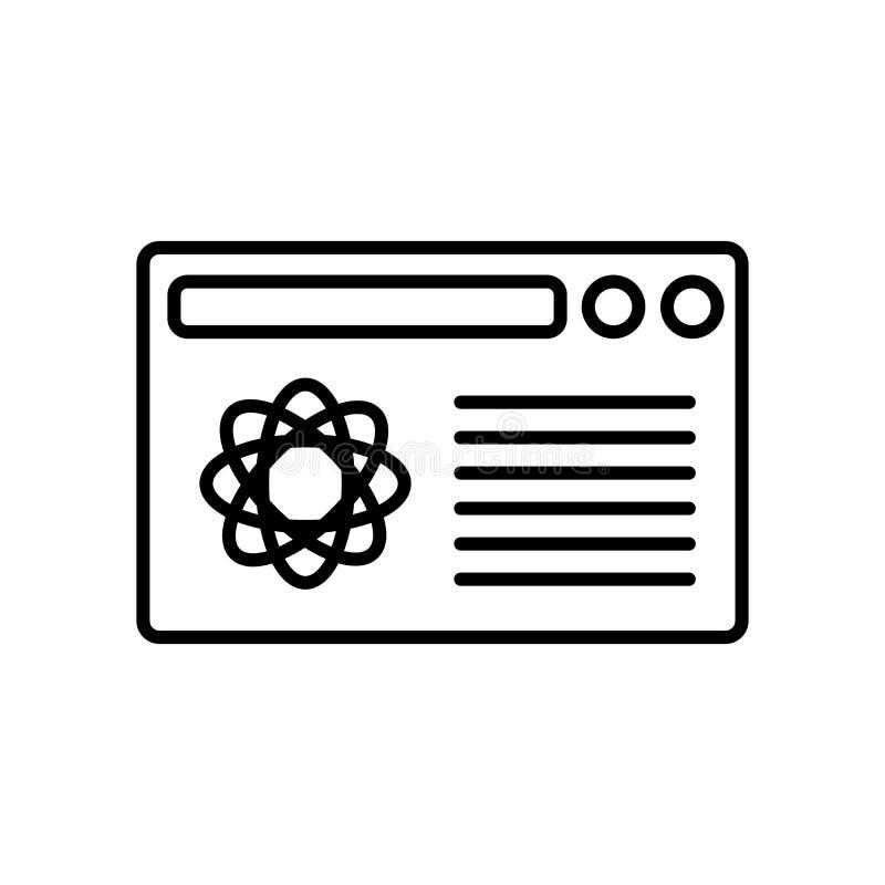 Wyszukiwarki ikony wektor odizolowywający na białym tle, wyszukiwarka znak, znak i symbole w cienkim liniowym konturze, projektuj ilustracja wektor