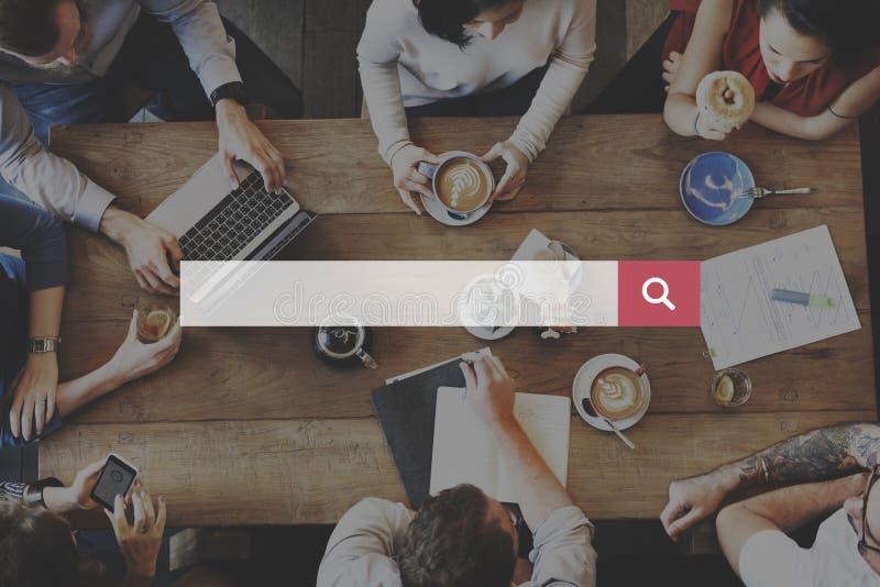 Wyszukiwarki Optimisation znalezienia Internetowy pojęcie zdjęcia stock