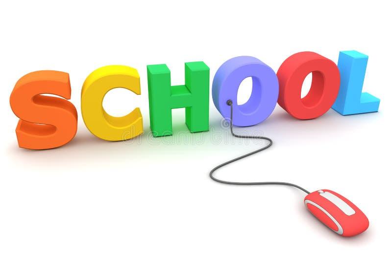 wyszukuje szkoły myszy czerwieni szkoły ilustracji