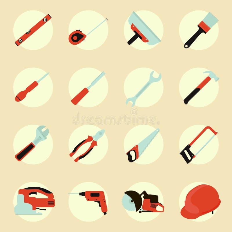 Wytłacza wzory ikona set, płaski koloru styl ilustracji