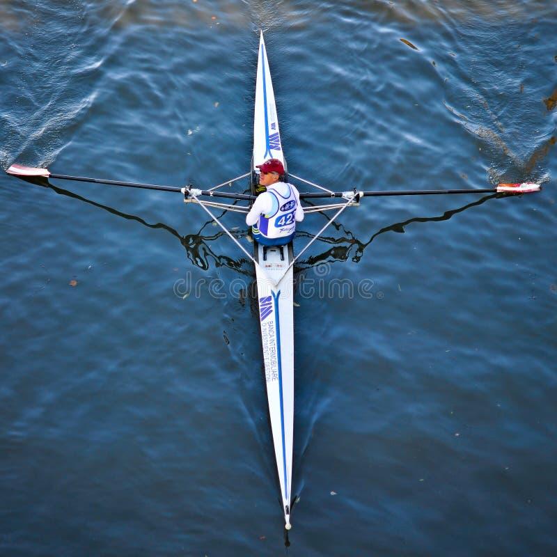 Wytrzymałości międzynarodowy Regatta silverSkiff obraz stock