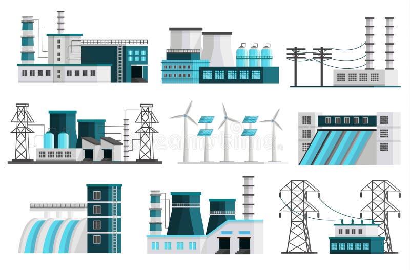 Wytwarzanie Siły elementy Ustawiający ilustracja wektor