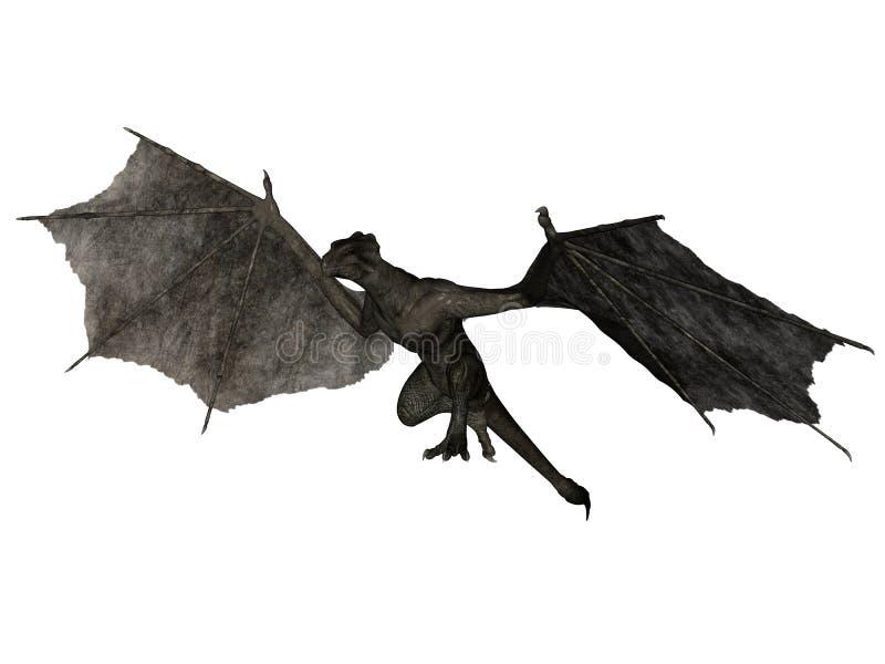 Wyvern vliegen stock illustratie