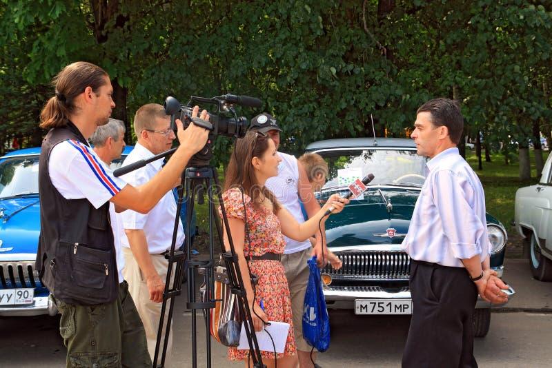 wywiad fotografia royalty free
