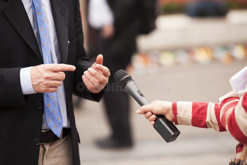 wywiad zdjęcie stock